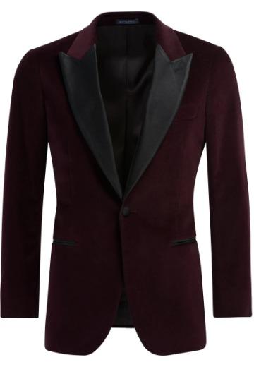 Tamsiai raudonas Black Tie švarkas