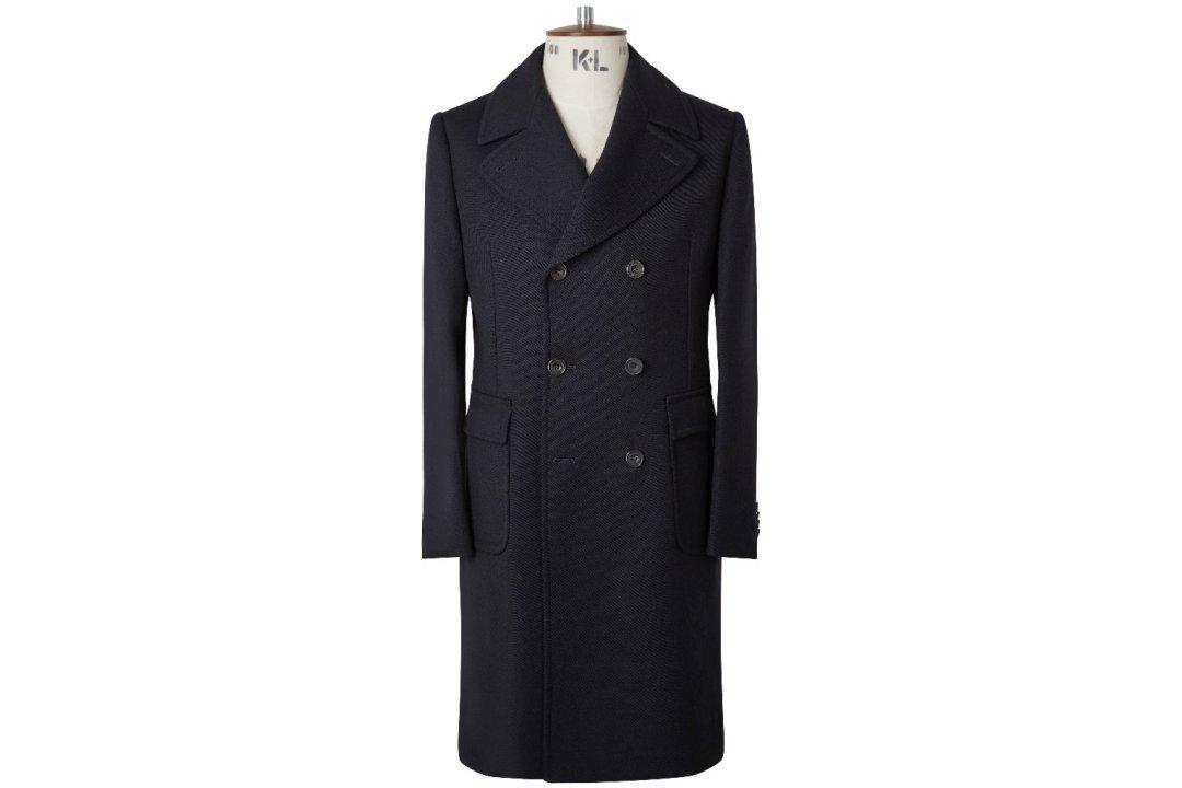 Ilgas dvieilis pea coat paltas