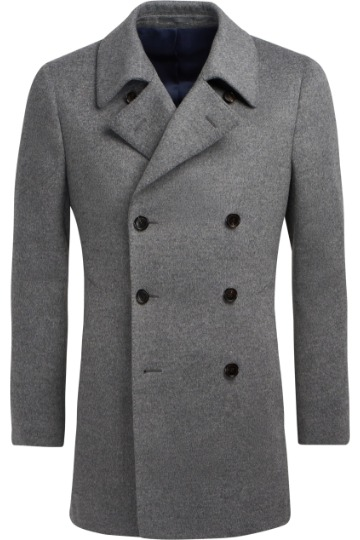 Pilkas pea coat paltas