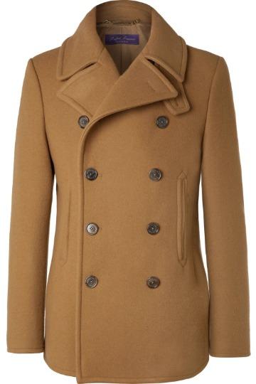 Šviesiai rudas pea coat paltas