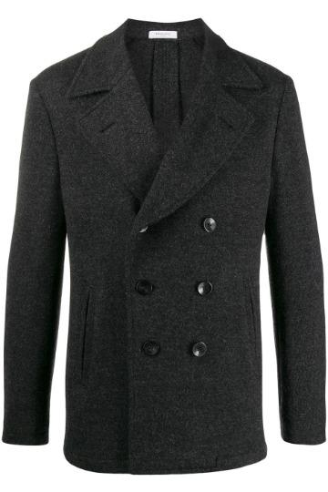 Tamsiai pilkas pea coat paltas