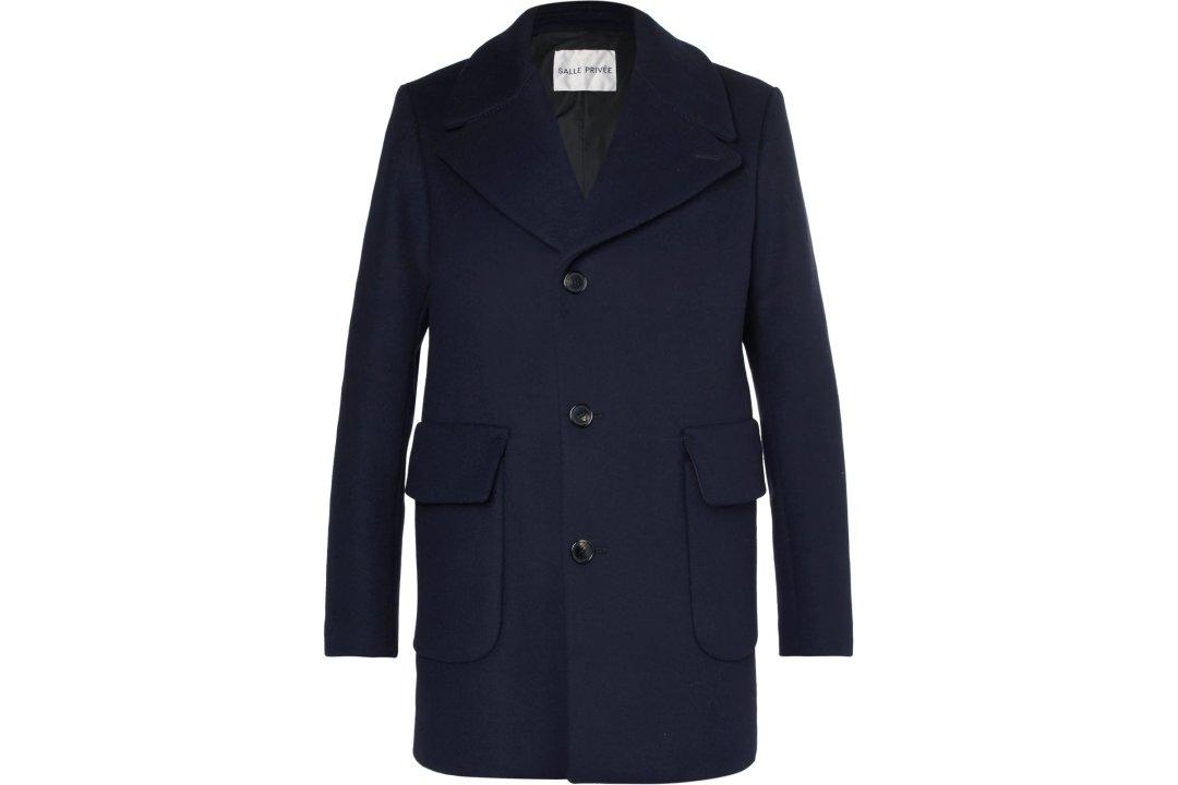 Trumpas vienaeilis pea coat paltas