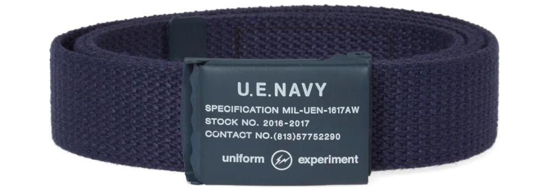 Uniform Experiment mėlynas diržas su užspaudžiama uždara sagtimi