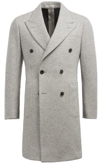 Šviesiai pilkas paltas