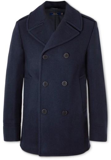 Tamsiai mėlynas paltas