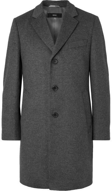 Tamsiai pilkas paltas