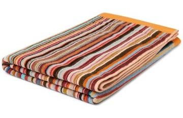 Stilinga dovana vyrui oranžinis dryžuotas rankšluostis