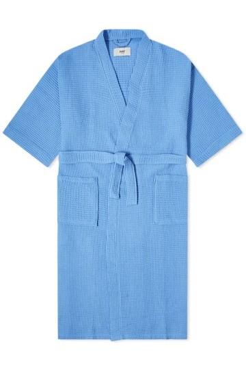 Stilinga dovana vyrui šviesiai mėlynas chalatas