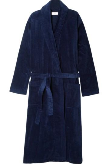 Stilinga dovana vyrui tamsiai mėlynas chalatas