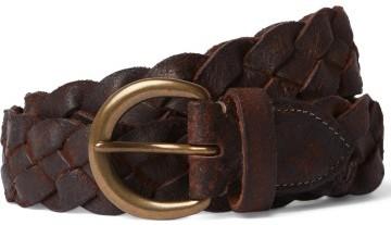 Stilinga dovana vyrui tamsiai rudas pintas diržas