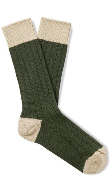 Stilinga dovana vyrui tamsiai žalios raštuotos kojinės