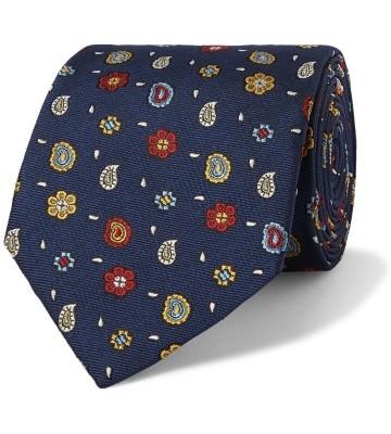 Stilinga vyriška dovana mėlynas raštuotas kaklaraištis