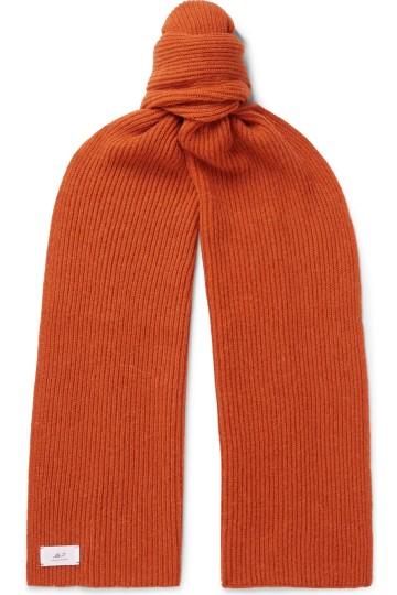 Stilingas vyriška dovana oranžinis šalikas