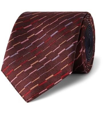 Stilinga vyriška dovana raudonas dryžuotas kaklaraištis