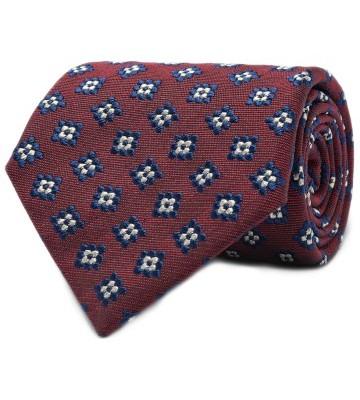 Stilinga vyriška dovana raudonas raštuotas kaklaraištis