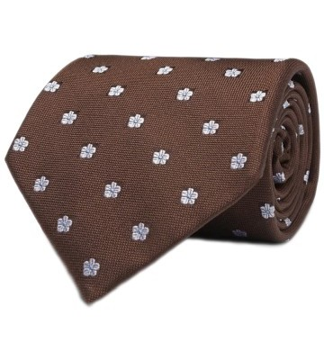 Stilinga vyriška dovana rudas raštuotas kaklaraištis