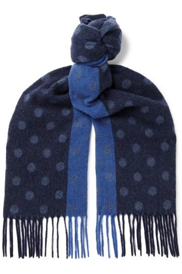 Stilingas vyriška dovana tamsiai mėlynas taškuotas šalikas