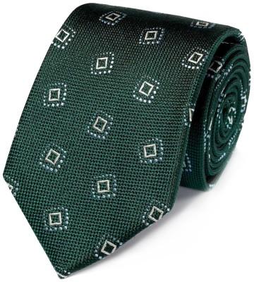 Stilinga vyriška dovana žalias raštuotas kaklaraištis