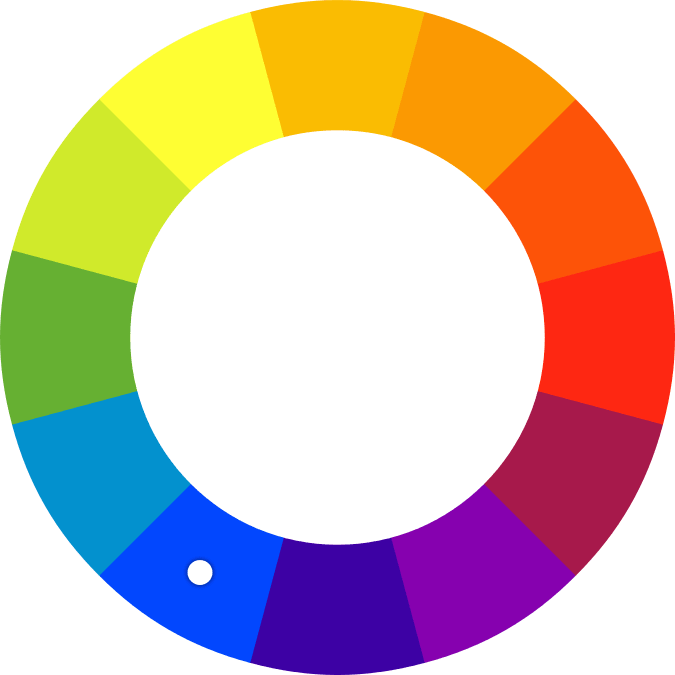 Spalvų ratas monochromatinės spalvos