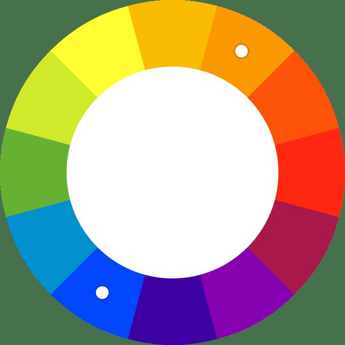 Spalvų ratas priešintos spalvos
