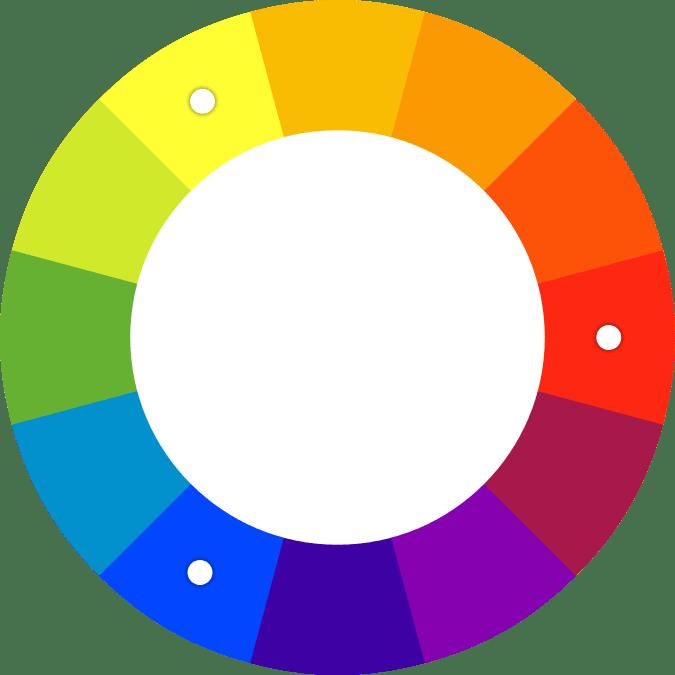 Spalvų ratas triadinės spalvos