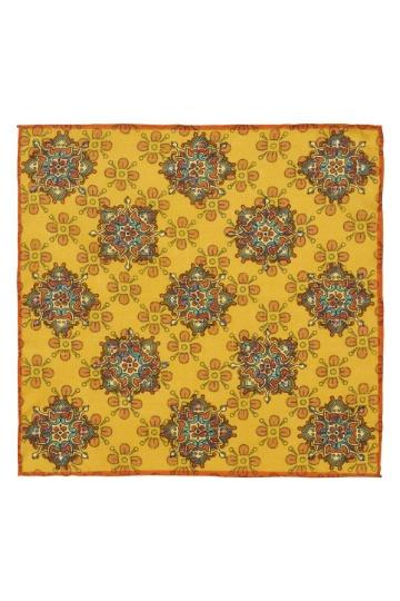Geltona raštuota švarko nosinaitė