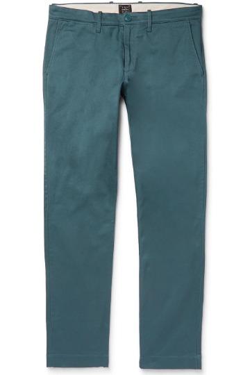 Mėlynai žalios kelnės