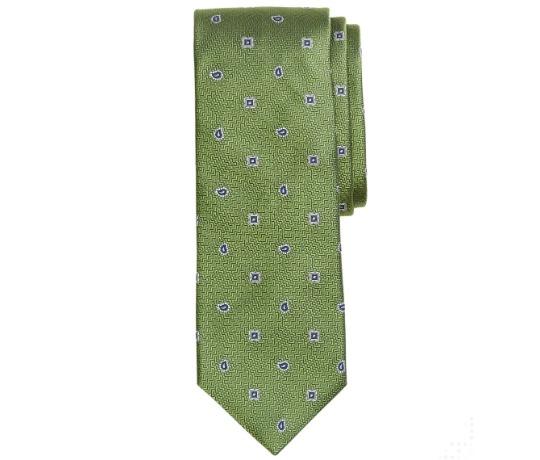 Žalias raštuotas kaklaraištis