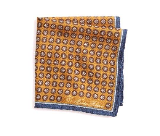 Oranžinė raštuota švarko nosinaitė