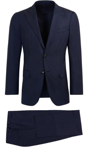 Tamsiai mėlynas kostiumas