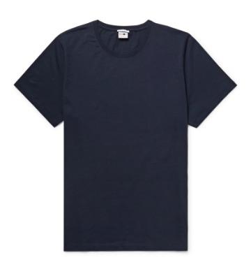 Tamsiai mėlyni marškinėliai