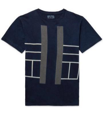 Mėlyni raštuoti marškineliai