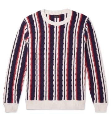 Megztinis su vertikaliais dryžiais