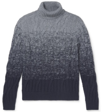 Pereinančių spalvų megztinis