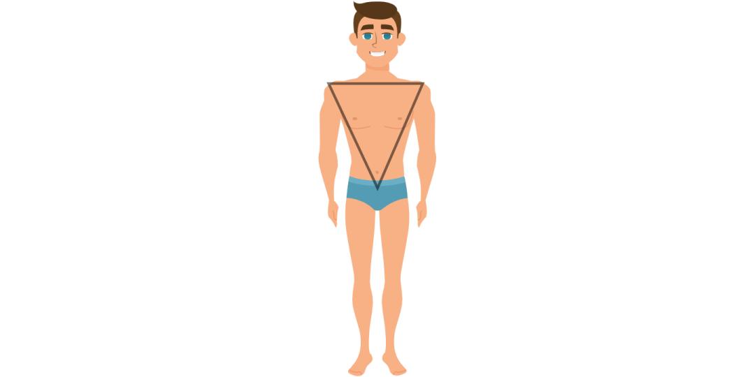 Vyro kūno forma apverstas trikampis