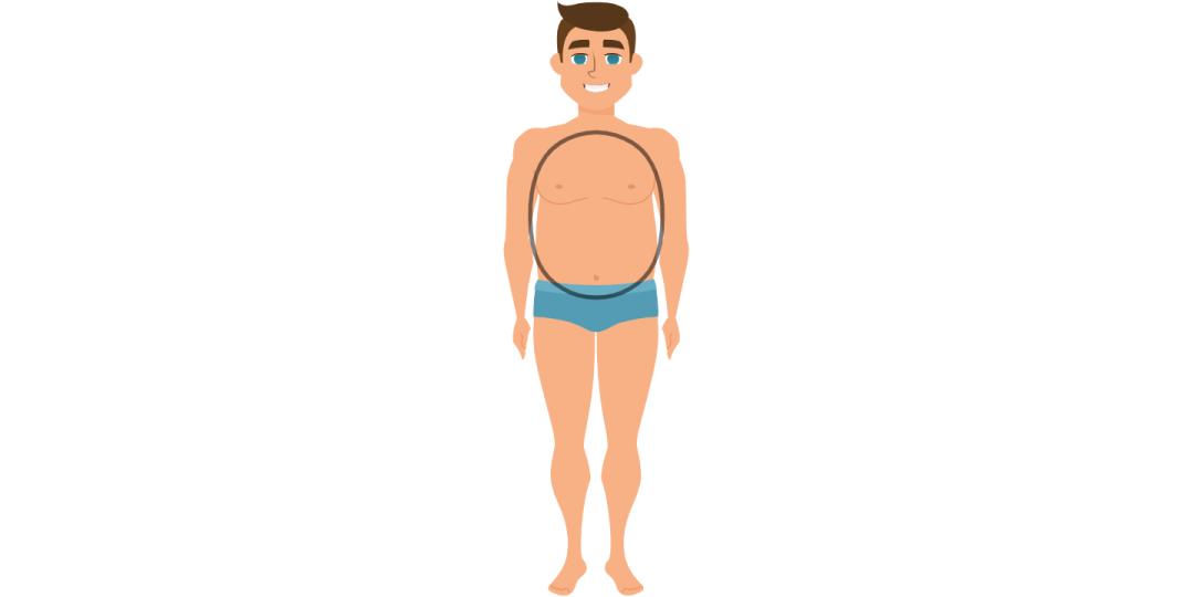 Vyro kūno forma ovalas