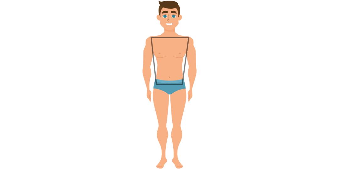 Vyro kūno forma trapecija