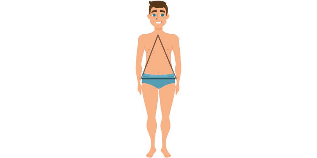 Vyro kūno forma trikampis