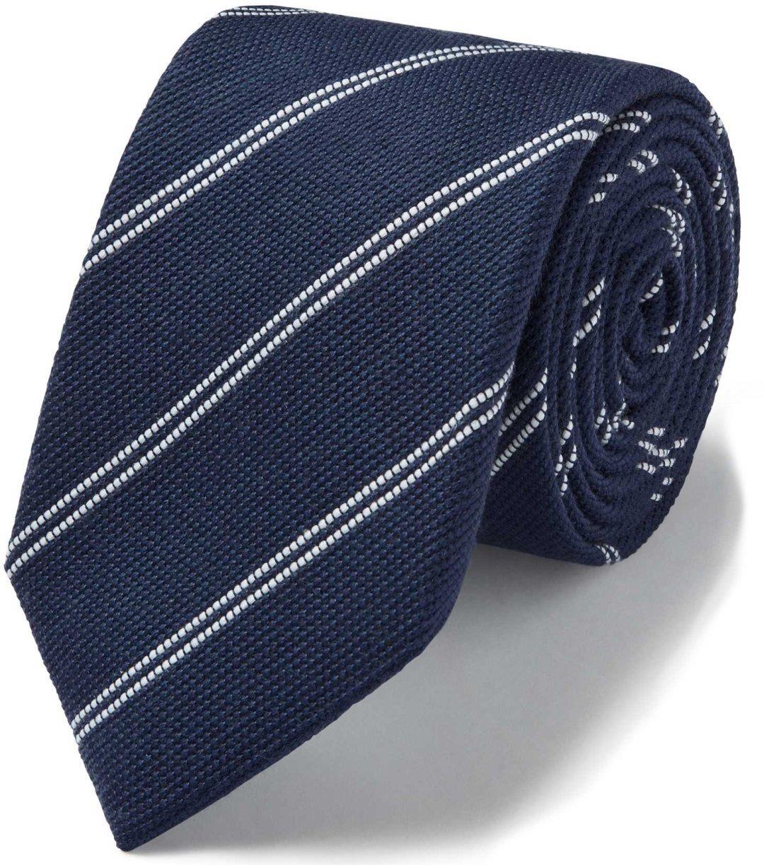 Mėlynas dryžuotas kaklaraištis