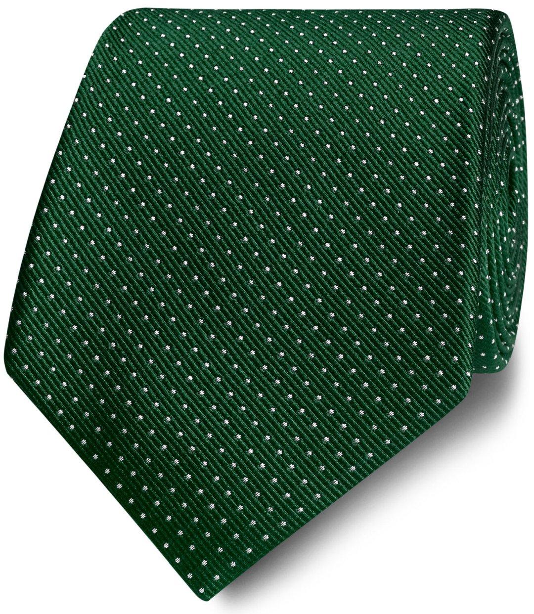 Žalias taškuotas kaklaraištis